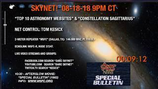 Skynet 8-18-18 Top Ten Astronomy Websites & Constellation Sagittarius