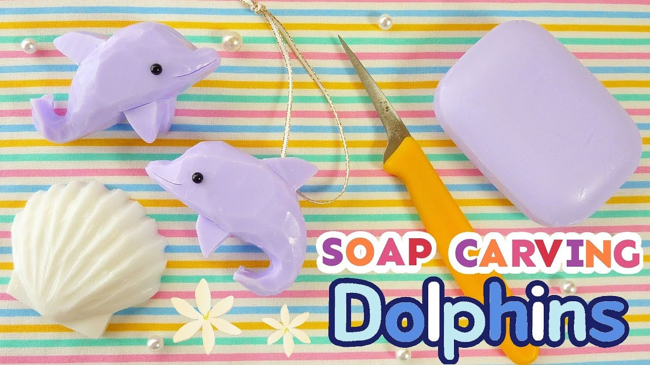 Soap carving dolphins delfines easy tutorial asmr