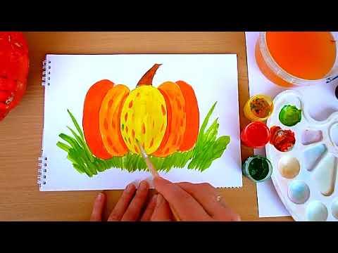 1 клас. Мистецтво. Малюємо гарбуз теплими кольорами