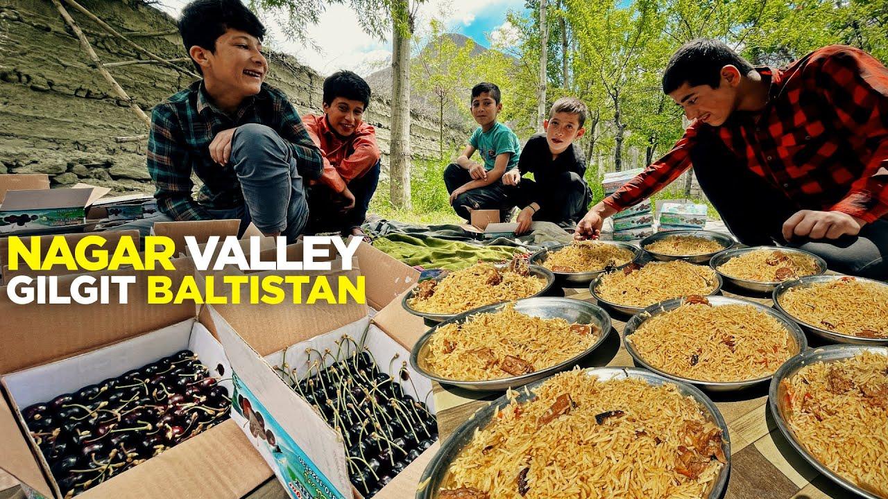 Nagar Valley Food | Baltit Fort & Cherry Garden | Trip to Gilgit Baltistan | Street Food Pakistan