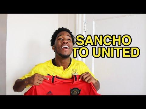 JADON SANCHO JOINS MANCHESTER UNITED
