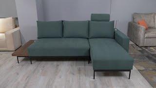 мЭДИСОН  угловой диван со столиком, зарядкой и лампой марки Dizi, Укризрамебель