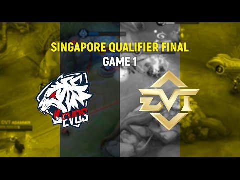 EVOS SG Vs DVT Esports - Game 1 - Singapore Qualifier Final   MLBB