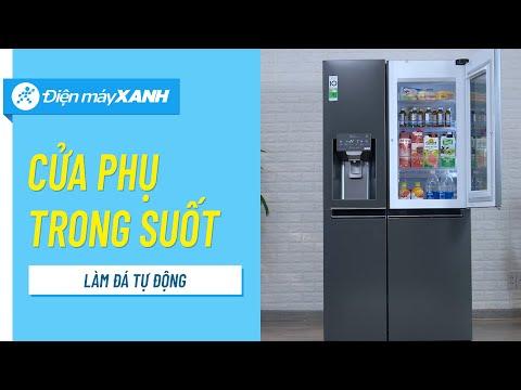 Tủ lạnh LG InstaView 601 lít: cửa phụ trong suốt, làm đá tự động (GR-X247MC) • Điện máy XANH