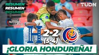 Resumen y goles   Honduras 2(5)-(4) 2 Costa Rica   CONCACAF Nations League   TUDN