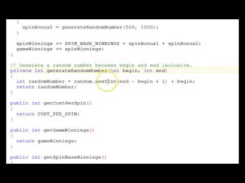Java Object Oriented Programming Part 3: Game Code