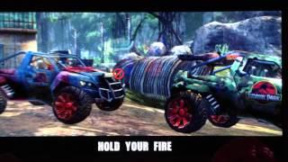 Triceratops mission in Jurassic Park Arcade game by Raw Thrills, Un...