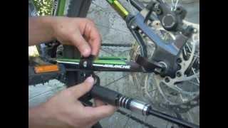 установка подножки на велосипед GT Avalanche
