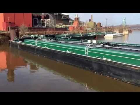 Watch change and prepping barges to load