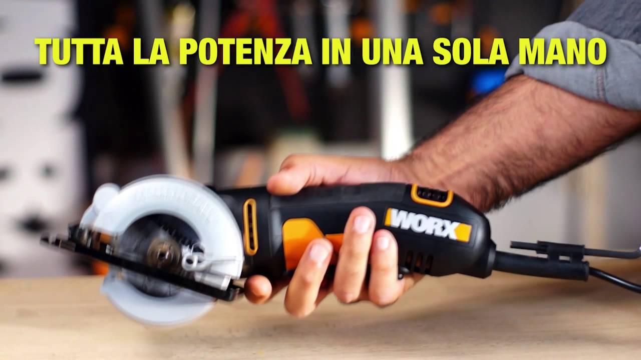 Worx wx423 sega circolare compatta italiano www.worx.com youtube