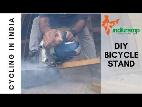 DIY bicycle stand