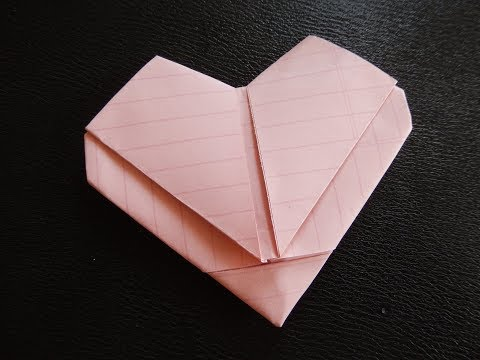 Easy Fold Heart Note (No Intro) How to Make Heart Out of Regular Size Paper