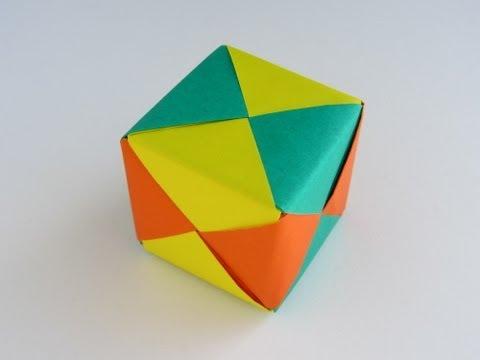 Origami Modular Sonobe Cube