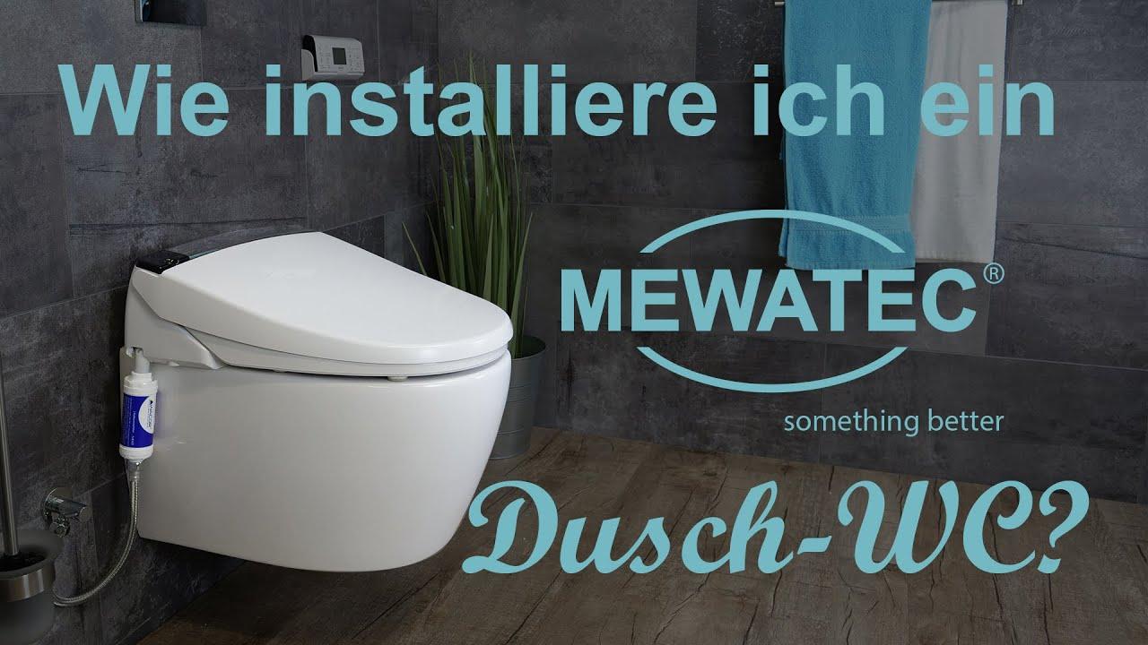 dusch wc einbauen so montieren sie ein mewatec dusch wc aufsatz youtube. Black Bedroom Furniture Sets. Home Design Ideas
