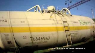 Россия из окна поезда Костром- Киров осень 2015 г  шестая серия