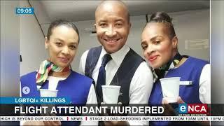 Flight attendant murdered