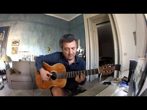 "Guitar: Riccardo Zinna-""Viagem""free adaptation by arrangement of Baden Powell"