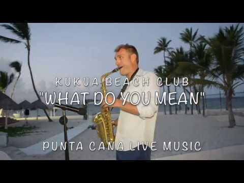 """WHAT DO YOU MEAN"" at Kukua Beach Club Wedding"