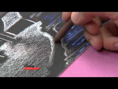 Art attack texture drawing sandpaper