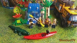 LASTENOHJELMIA SUOMEKSI - Lego city - Viidakon siirrettävä laboratorio 60160 esittely - osa 2