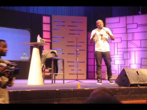DKB performs at his one-man comedy show christened 'Point of View.'