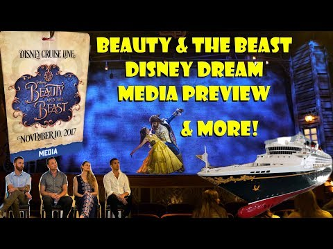 Beauty And The Beast Disney Dream Cruise Media Event Tour, Review, Creative Q&A, Lunch Showcase!