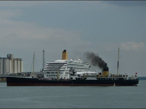 "SS ""Shieldhall"" & Cruise Ships in Southampton Docks - 31/05/2014"