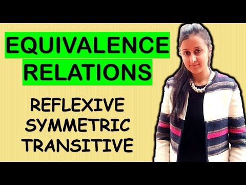 EQUIVALENCE RELATIONS- REFLEXIVE, SYMMETRIC, TRANSITIVE (RELATIONS AND FUNCTIONS CLASS XII 12th)