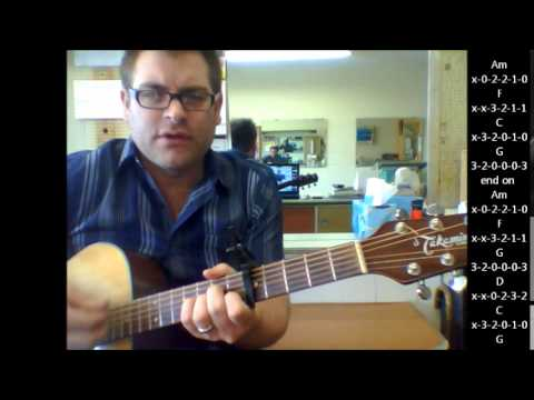 "How To Play ""Self Esteem"" By The Offspring On Acoustic Guitar"