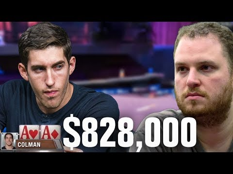 Should Dan Colman Fold POCKET ACES In This $828,000 Pot?!