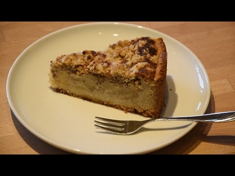 Apfelkuchen Mit Sahneguss Und Nussstreuseln Thermomix Tm5 Youtube