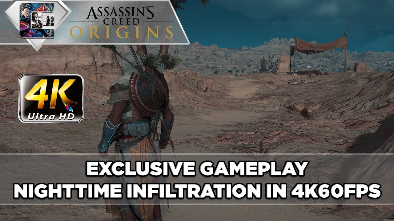 Assassin S Creed Origins 4k Night Time Gameplay Hunting