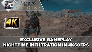 Assassin's Creed: Origins (4K) - Night time Gameplay / Hunting / Infiltrating