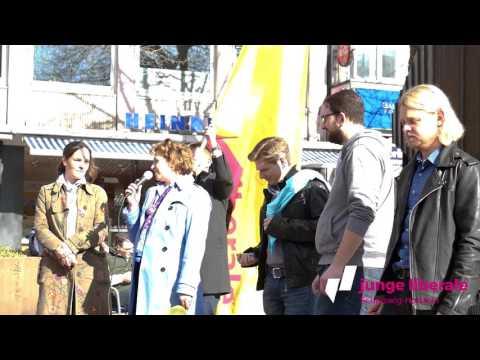 AKTIONSTAG #LTWSH: JULIS SH und NICOLA BEER  #SHentfesseln
