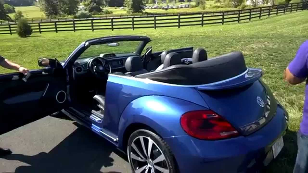 2015 Vw Beetle Convertible R Line Youtube