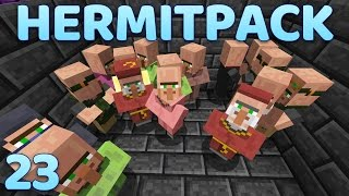 Hermitpack Modded Minecraft 23 Emerald Farming!