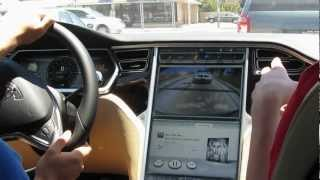 Tesla model S Roadster Test Drive At SpaceX, Hawthorne Airport 6/30/12