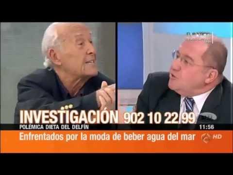 (2/2) Beber agua de mar, debate en Espejo Público con Ángel Gracia y Laura Tauste entre otros