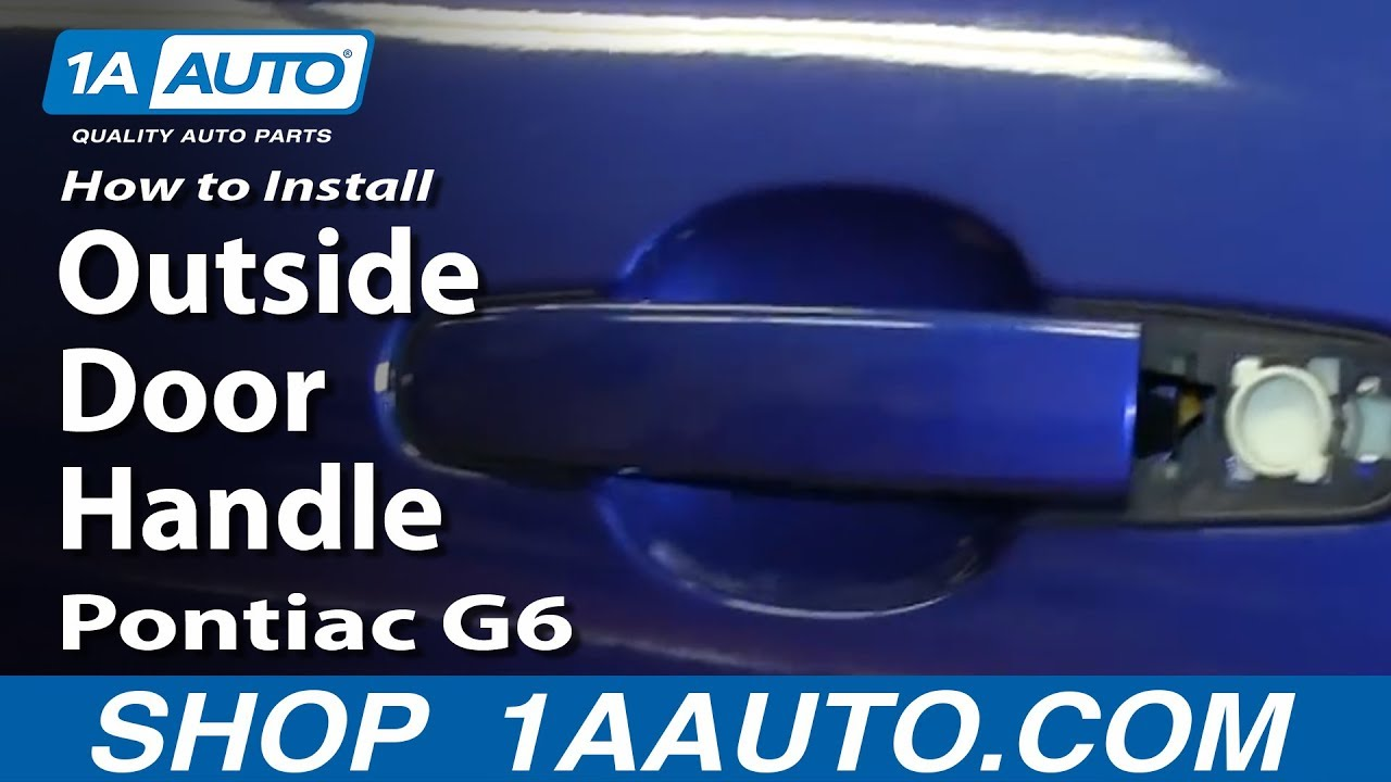 Lower door hinge pin amp bushing repair kit for chevy pontiac buick - How To Install Replace Rear Outside Door Handle 2005 10 Pontiac G6 Youtube