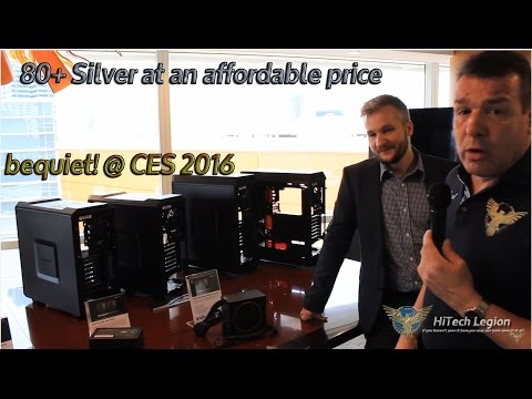 AFFORDABLE 80+ silver POWER SUPPLIES shown at CES 2016 by be quiet