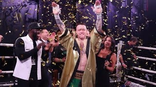 MTK'S STEVEN DONNELLY PRESENTED WITH HIS GOLDEN ROBE BY AMIR KHAN FOR WINNING ULTIMATE BOXXER 5