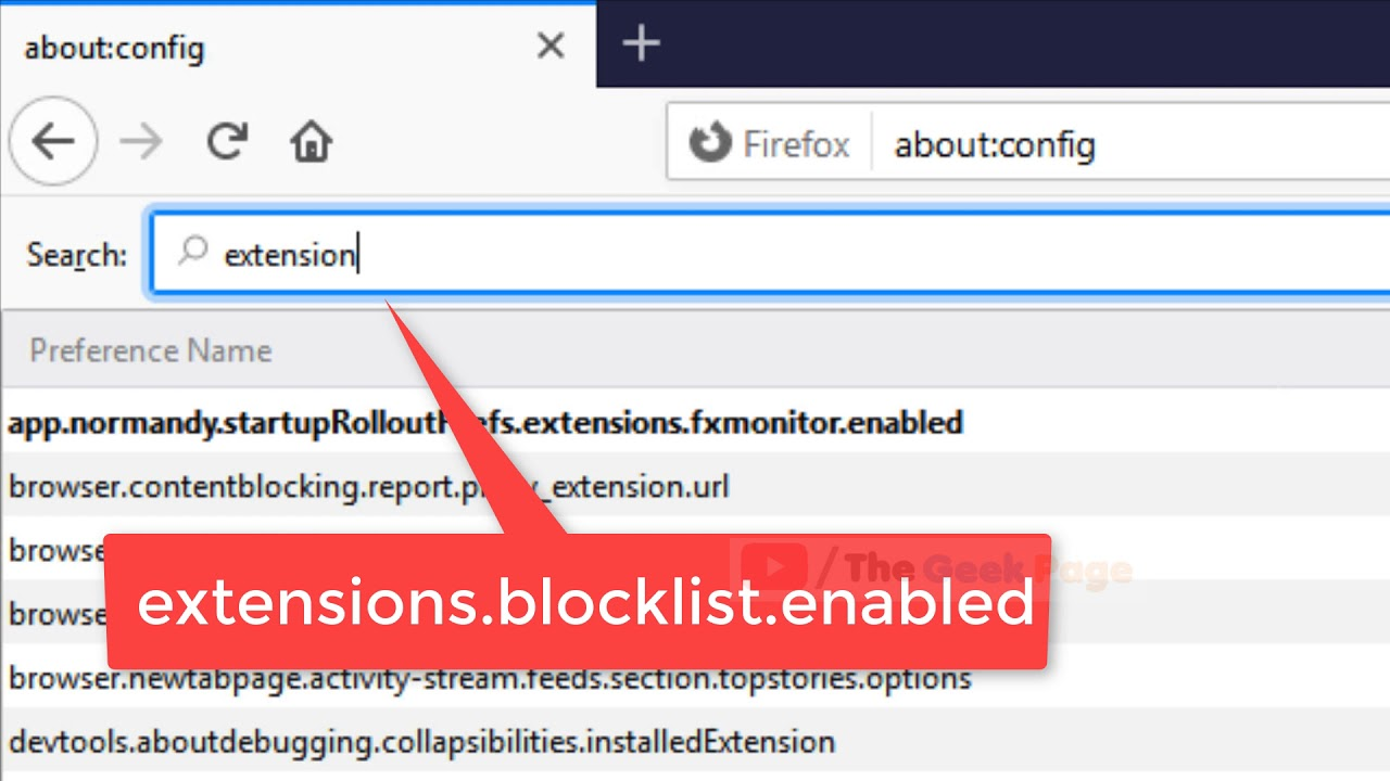 How to Enable Blocked Extensions & Plugins in Mozilla Firefox