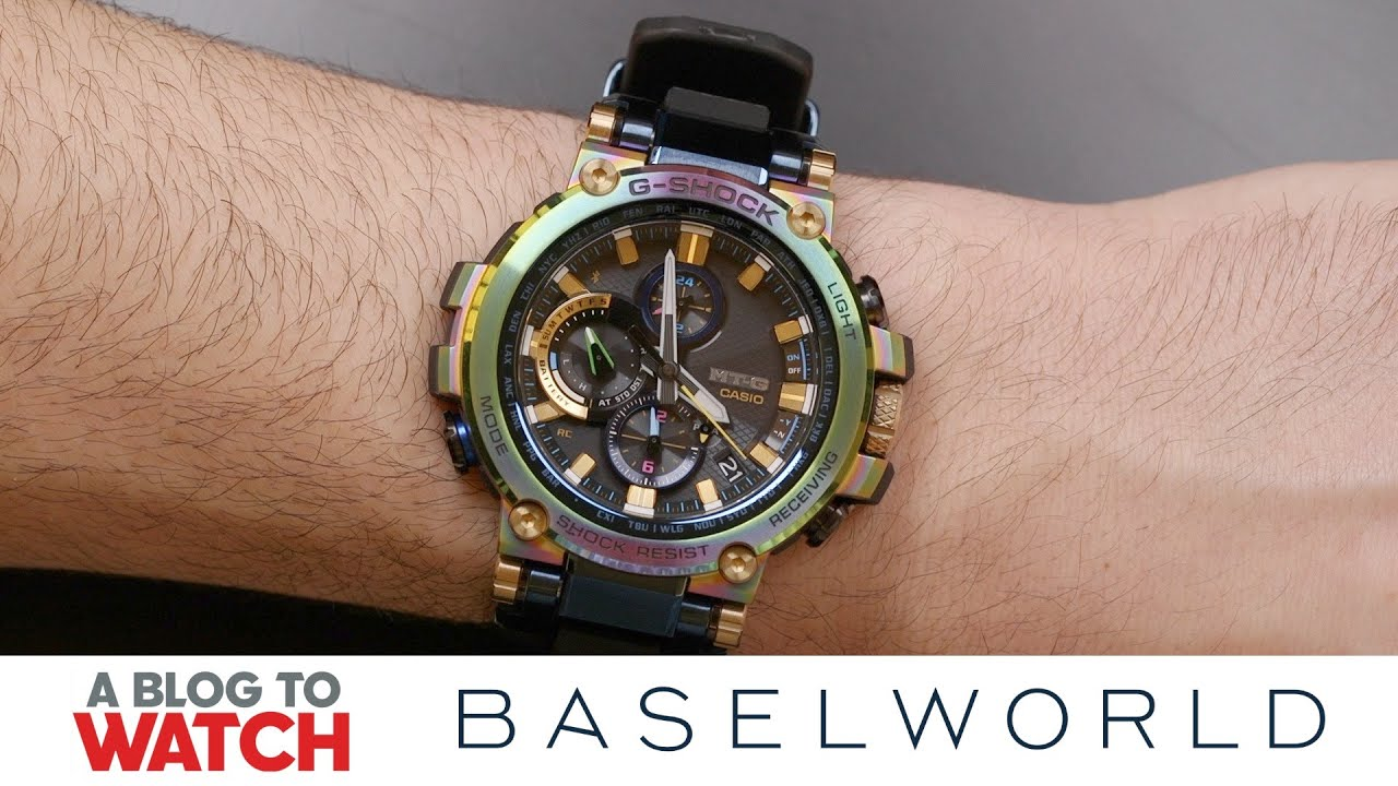 119ae0728702 Casio G-SHOCK Lunar Rainbow Ref. MTG-B1000RB Watch Hands-On   New for Baselworld  2019   aBlogtoWatch