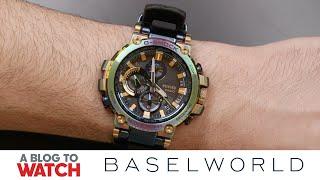 Casio G-SHOCK Lunar Rainbow Ref. MTG-B1000RB Watch Hands-On | New for Baselworld 2019 | aBlogtoWatch
