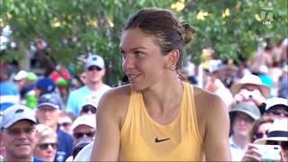 Simona Halep: 2019 Cincinnati Second Round Win Tennis Channel Interview