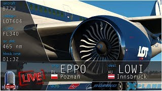 ✈ X- Plane 11 -- Poznań PL (EPPO) - Innsbruck AU (LOWI) -- BOEING 777-300 ER
