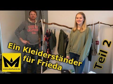 Wir bauen einen Kleiderständer für Frieda, Teil 2 - clothes rack, Part 2 DIY
