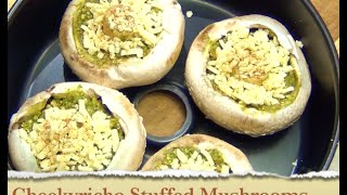 Stuffed Mushrooms Cheekyricho Vegetarian 3 Ingredients Actifry Video Recipe Episode 1,039