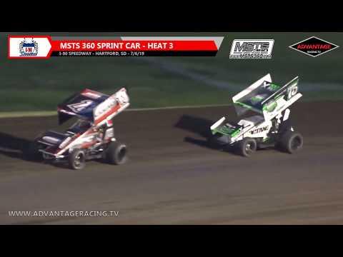 MSTS 360 Sprint Car Heats - I-90 Speedway - 7/6/19