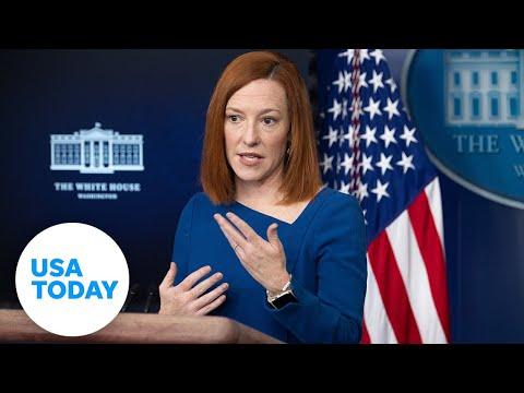 Jen Psaki, press secretary, holds White House press briefing.   USA TODAY